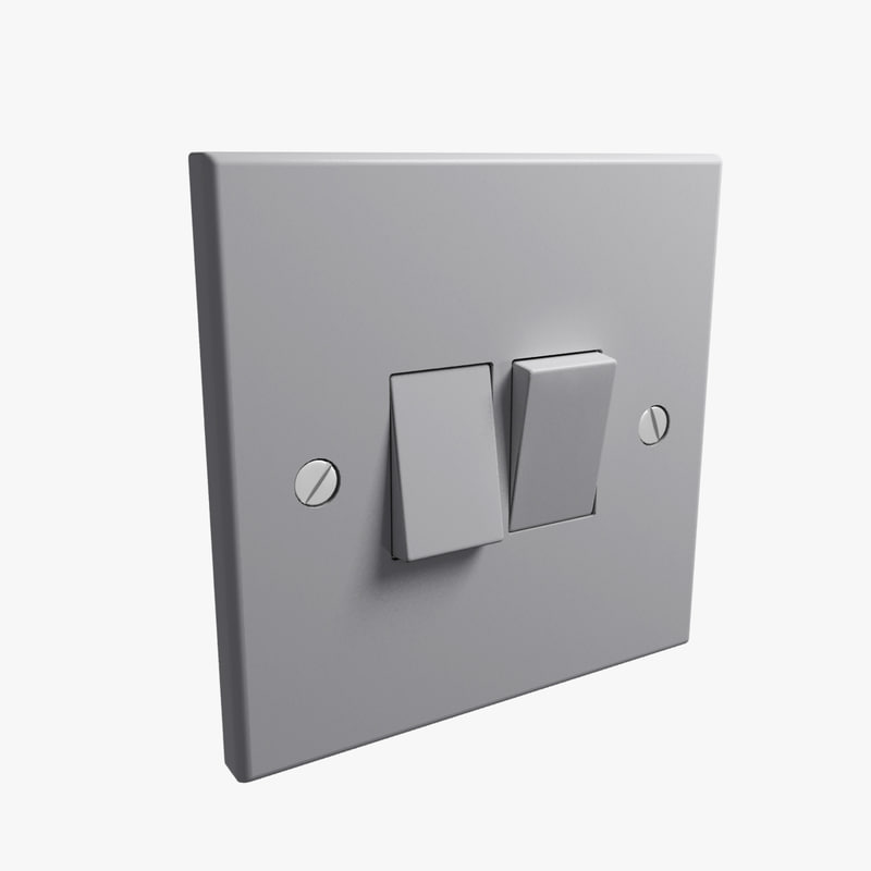 3d model uk double light switch