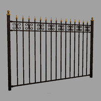 wrought iron fence obj