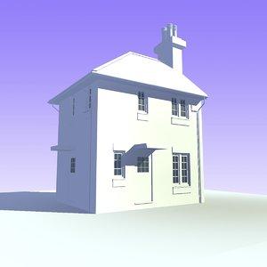 2 storey house unit 3d model