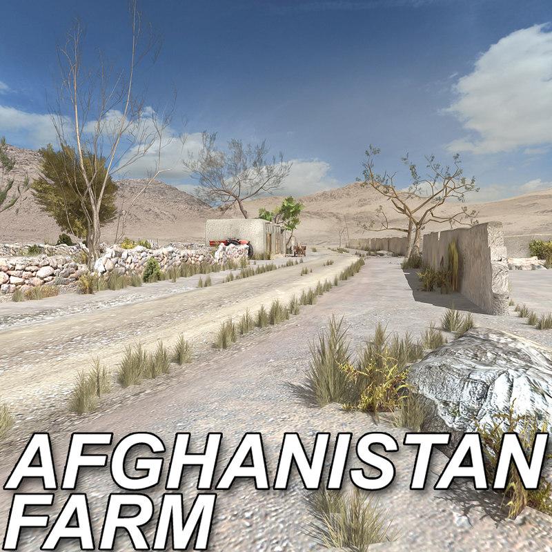 3d model afghan farm afghanistan