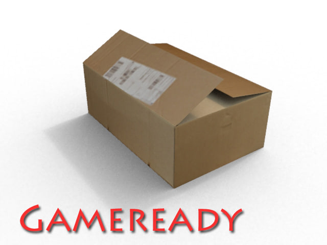 3ds gameready cardboard box