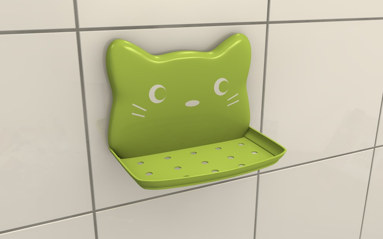 3ds soap holder - cat