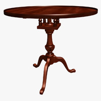 3ds chippendale tea table