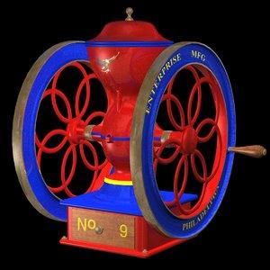 antique coffee grinder 3d 3ds