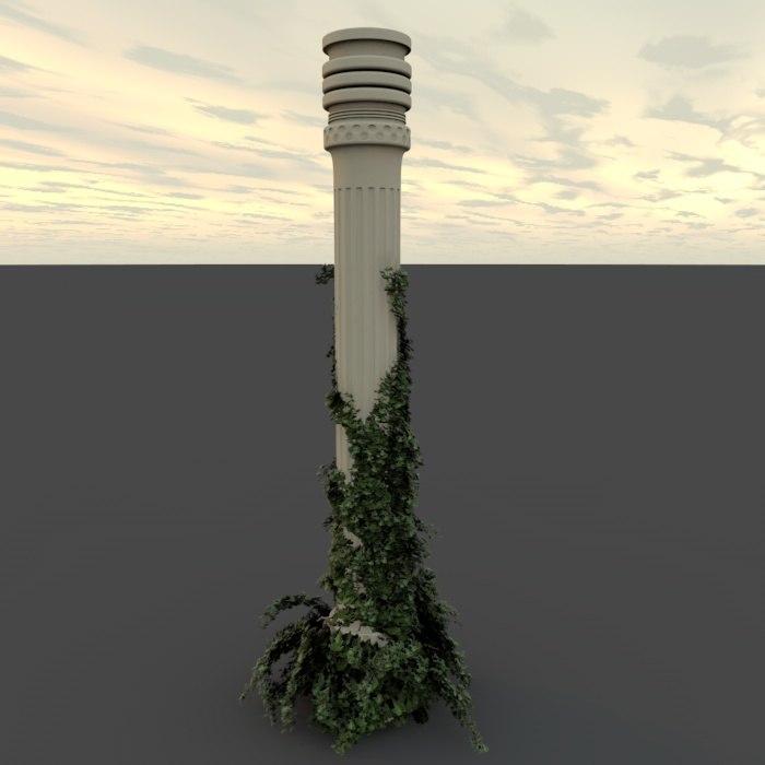 column ivy 3d c4d