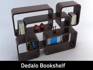 dedalo bookcase books 3d obj