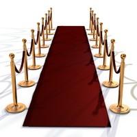 c4d realistic dividers red carpet