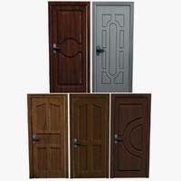 3d model modern wooden doors
