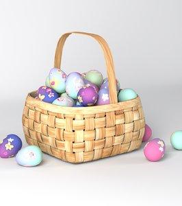 3dsmax basket easter eggs