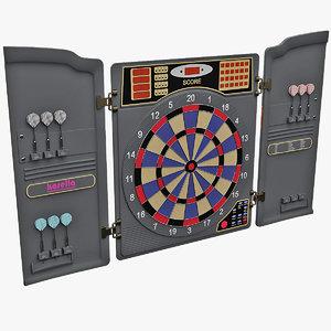 3d model electronic dartboard v2