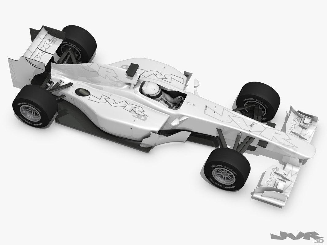 generic f1 race car 3ds