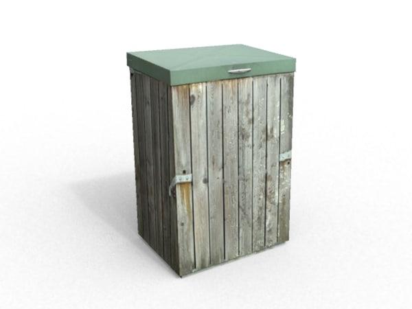 garbage wood 3d model
