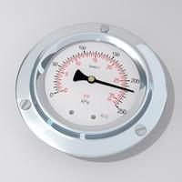 pressure gauge 3d obj