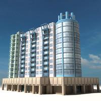 3dsmax beach building