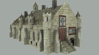 medieval city hall 3d model