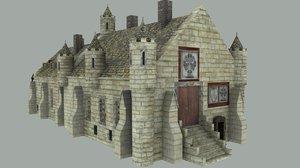 medieval city hall 3d model