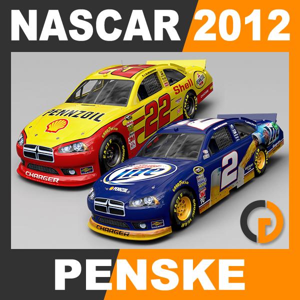 nascar 2012 penske racing 3d model