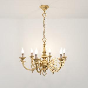 maya 6 chandelier possoni