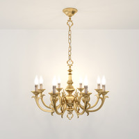 8 chandelier possoni 3d max