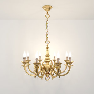 8 chandelier possoni 3d max
