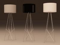 flos f1 floor lamp 3d 3ds