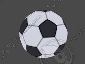 soccer ball ready 3d model