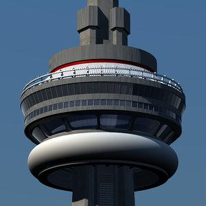 3d toronto cn tower