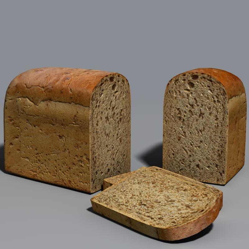 3d model of loaf loaf002