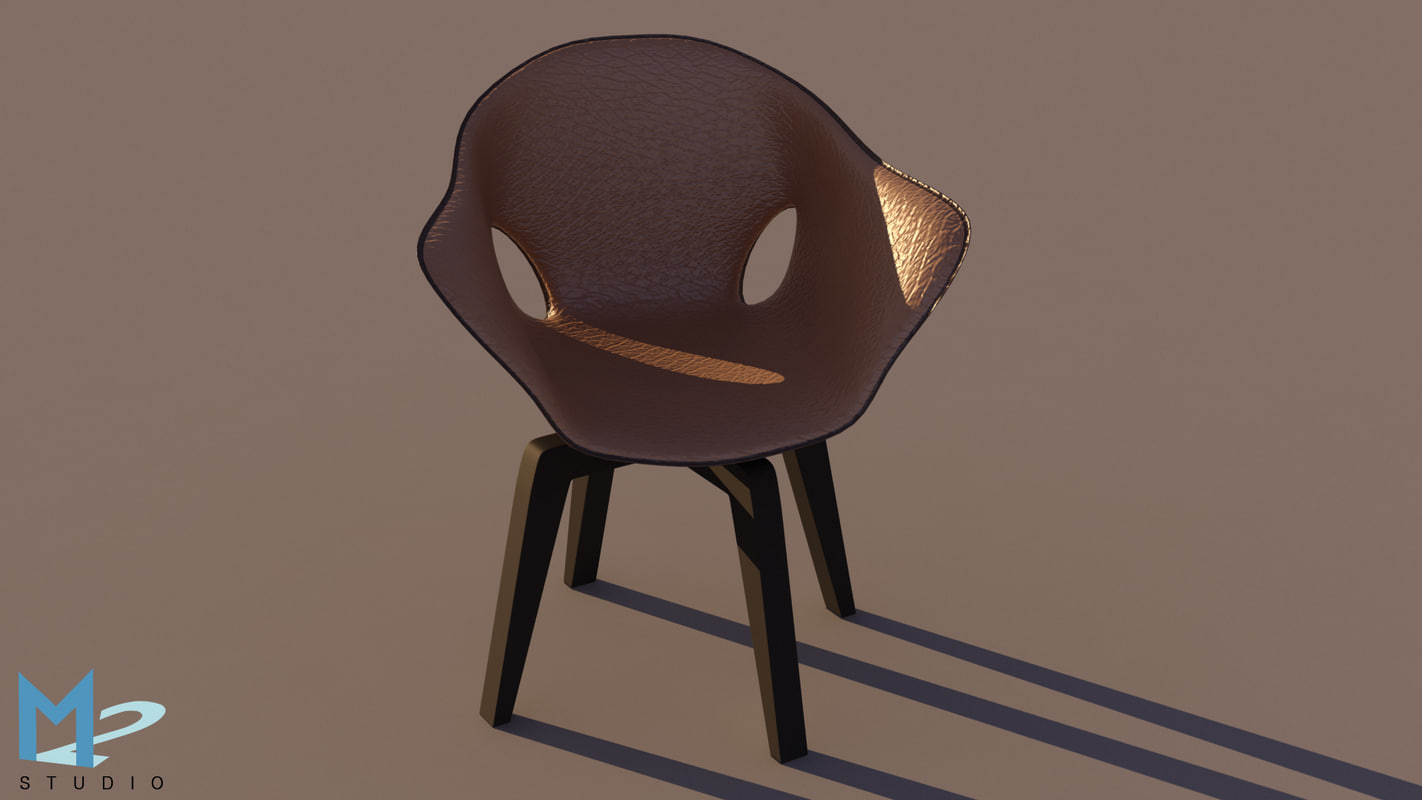 3d model saddle chair