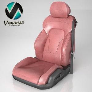 audi tt seat 3d model