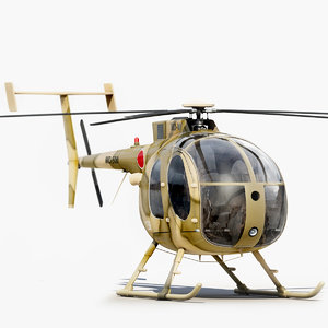mh 500 helicopter 3d model