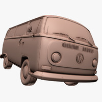 3dsmax volkswagen microbus 1979