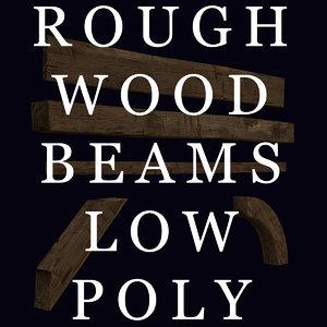 beams rough wood 3d obj