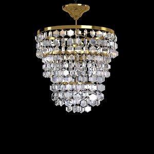3d vintage classic crystal