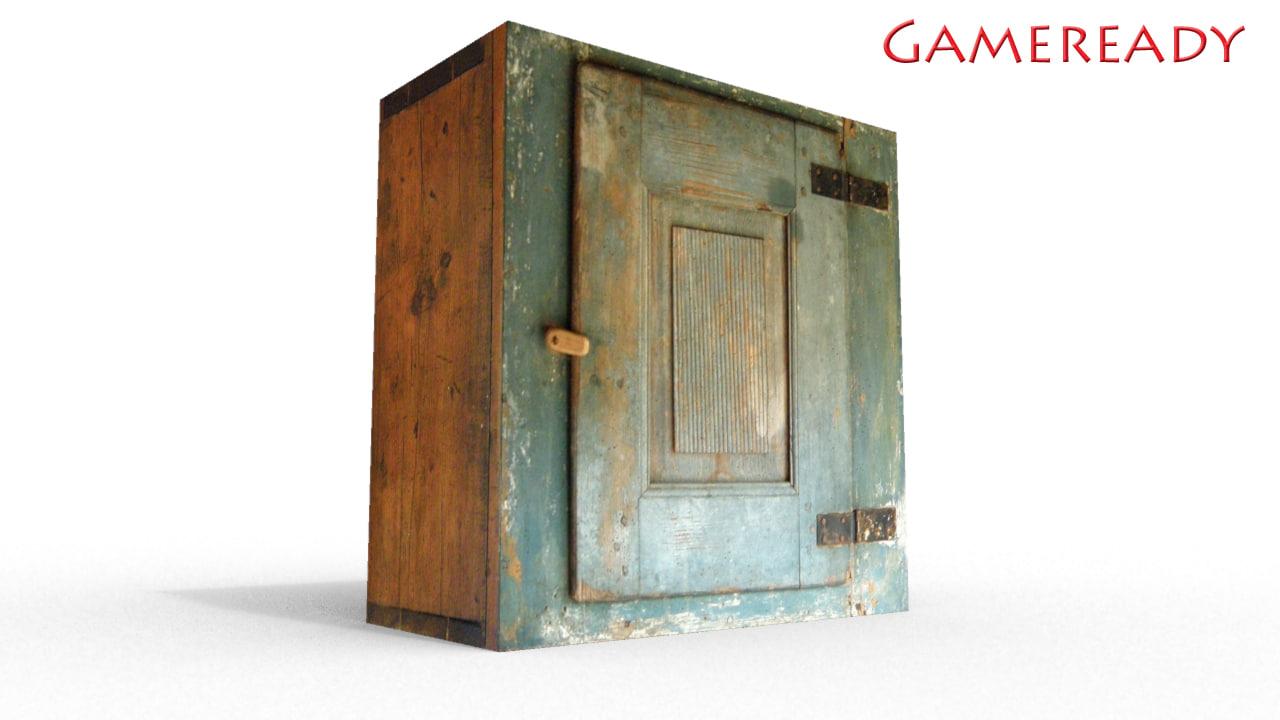 3d wall cabinet model