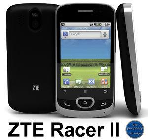 3dsmax zte racer ii smartphone