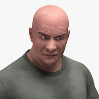 3d man human body character model