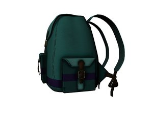 3d model small backpack