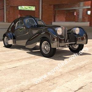 3d bugatti atlantic