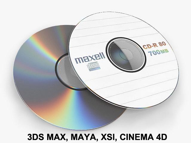 3d cd dvd disc model