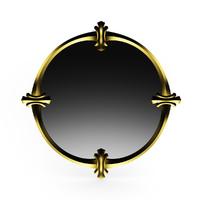 obj mirror gold golden