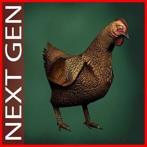 3d chicken model