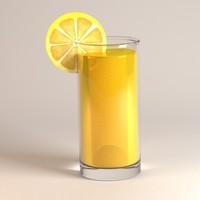 3d 3ds glass orange