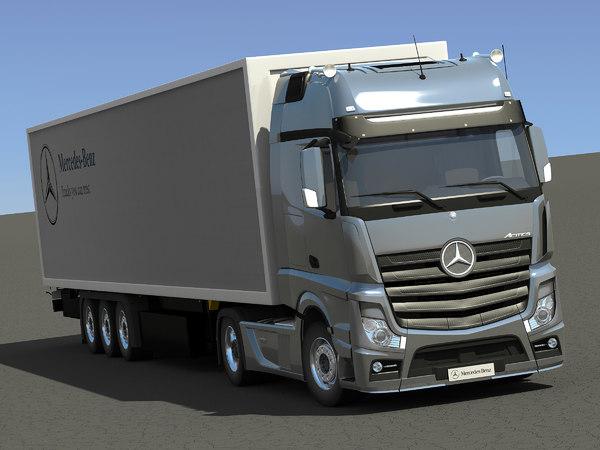 3d mercedes-benz actros trailer