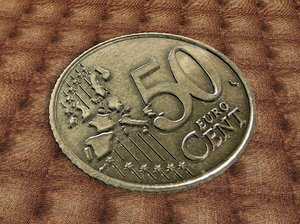 3d model of 50 euro cent