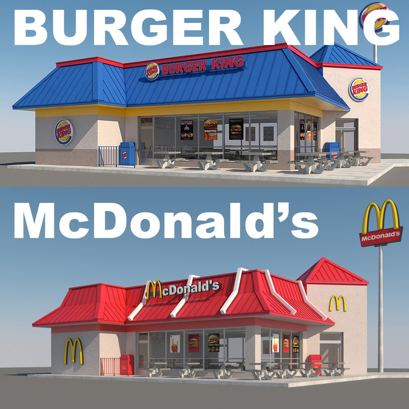 3d fast food restaurants model