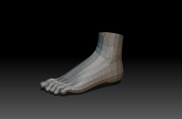 3d model of feet