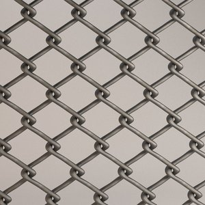 fence chain link 3ds