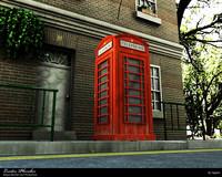 3ds max london phone box