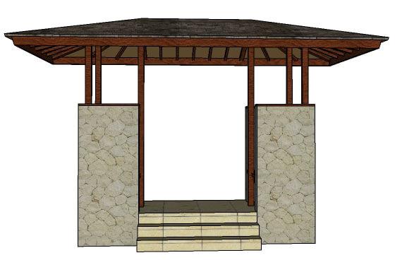 3d model gate gazebo